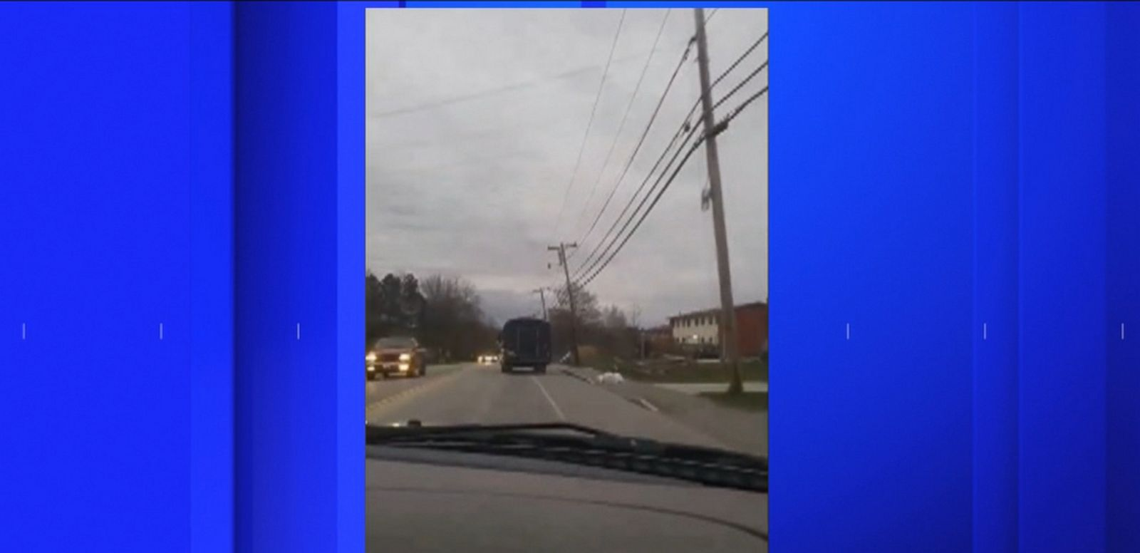 VIDEO: Police in Bangor, Maine, posted video of the ride on Facebook.