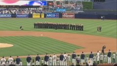 VIDEO: The San Diego Padres apologized and said they have cut their ties to a contractor they blamed for having a recording of a woman singing the national anthem play as the San Diego Gay Mens Chorus was set to sing during Pride Night.