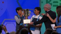VIDEO: Jairam Hathwar of Corning, New York, and Nihar Janga of Houston, Texas, won.