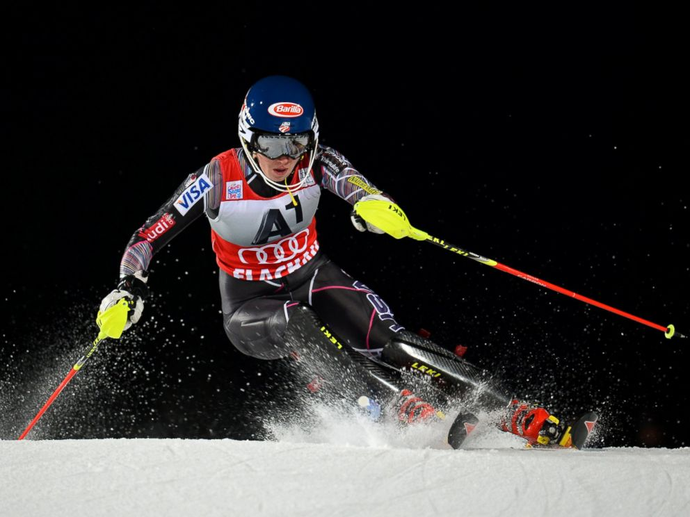 PHOTO: Mikaela Shiffrin of USA competes during the FIS Alpine Ski World Cup Womens race, Jan. 14, 2014, in Flachau, Austria.