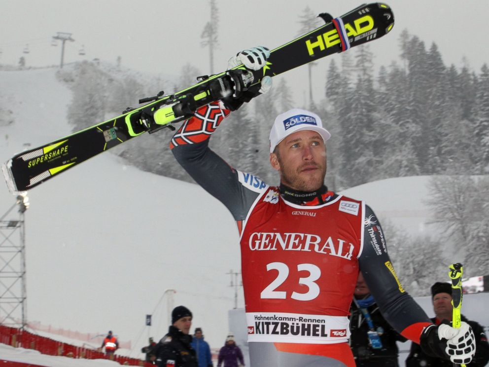 PHOTO: Bode Miller of the USA takes 2nd place during the Audi FIS Alpine Ski World Cup Mens Super-G, Jan. 26, 2014, in Kitzbuehel, Austria.