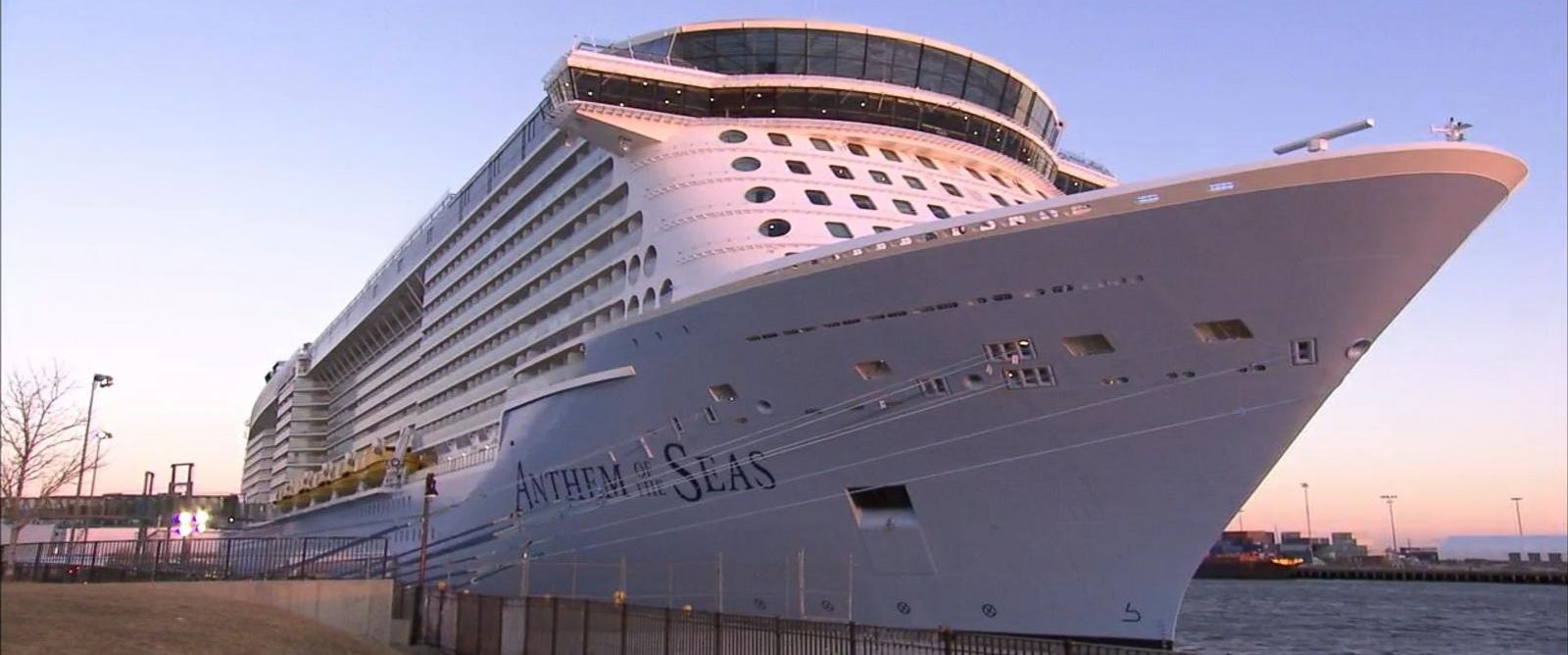 """PHOTO: Passengers aboard Royal Caribbeans Anthem of the Seas tell """"GMA"""" what it was like as the boat traveled through hurricane-force winds."""