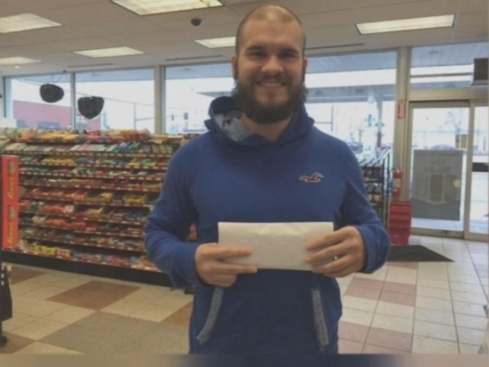 PHOTO: Nick Potts has been tasked with choosing which Columbus, Ohio store his office pool buys their Powerball tickets from.