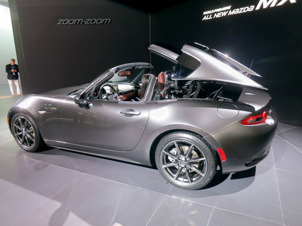 PHOTO: The 2017 MX-5 SF features a retractable hardtop. Mazda has not released specs on the hotly-anticipated car just yet.