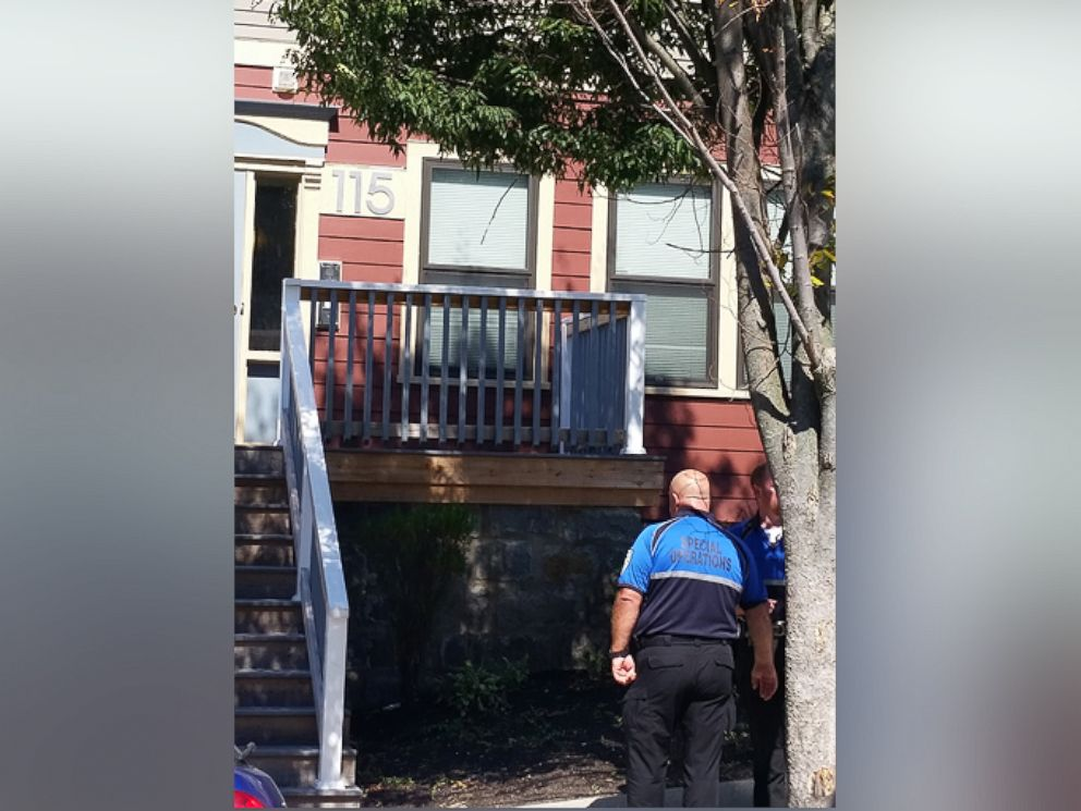 PHOTO: House where police executed a search warrant in Dorchester, Mass., in connection to the Baby Doe case.