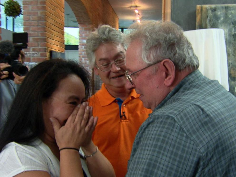 Allen Thomas daughter sheds tears after finally being reunited with her father after over 40 years.