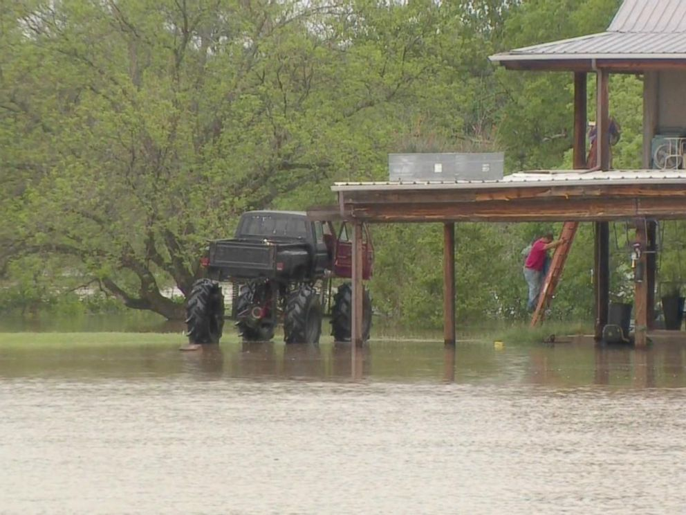 texas man uses monster truck to rescue neighbors during