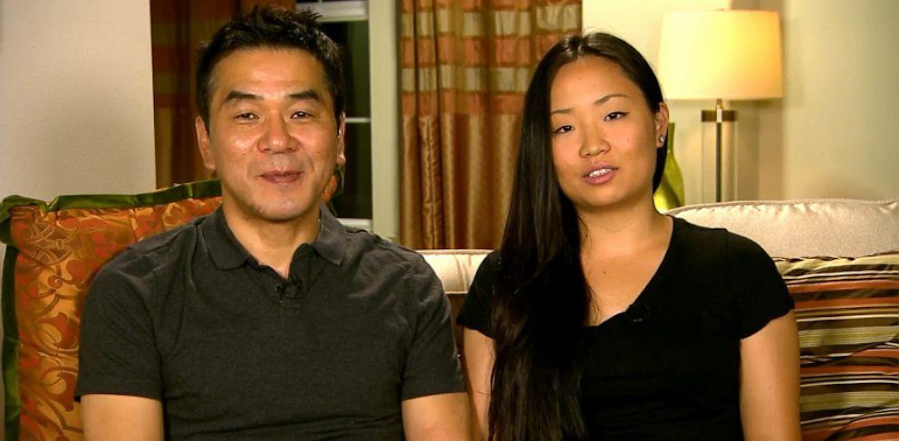 PHOTO: Eugene Rah and Eunice Rah discuss the San Francisco plane crash.