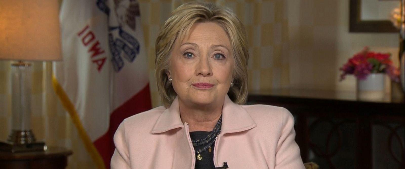 "PHOTO: Hillary Clinton appears on ""Good Morning America,"" Feb. 1, 2016, ahead of the Iowa caucuses."