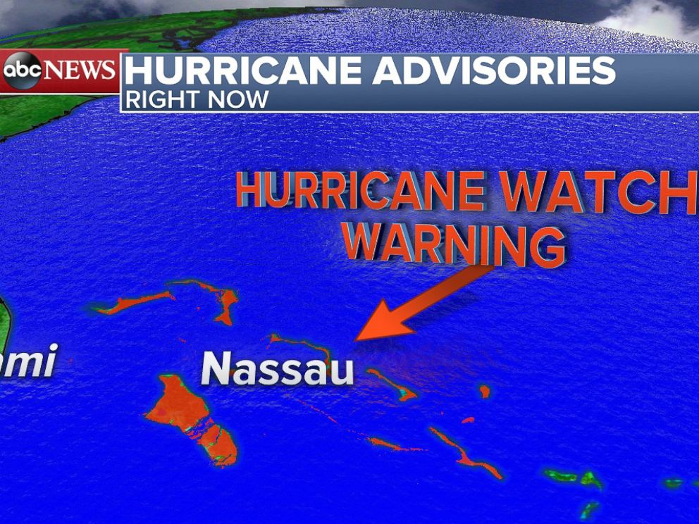 PHOTO: Hurricane Watches and Warnings have been posted for the Bahamas.