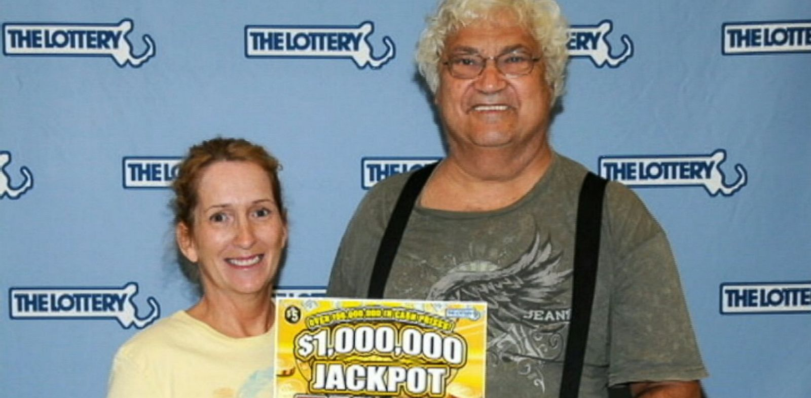 PHOTO: Joseph and Joanna Zagami won $1 million off a scratch off lottery ticket