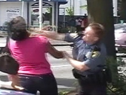 Caught on Tape: Cop Punches Teen Girl