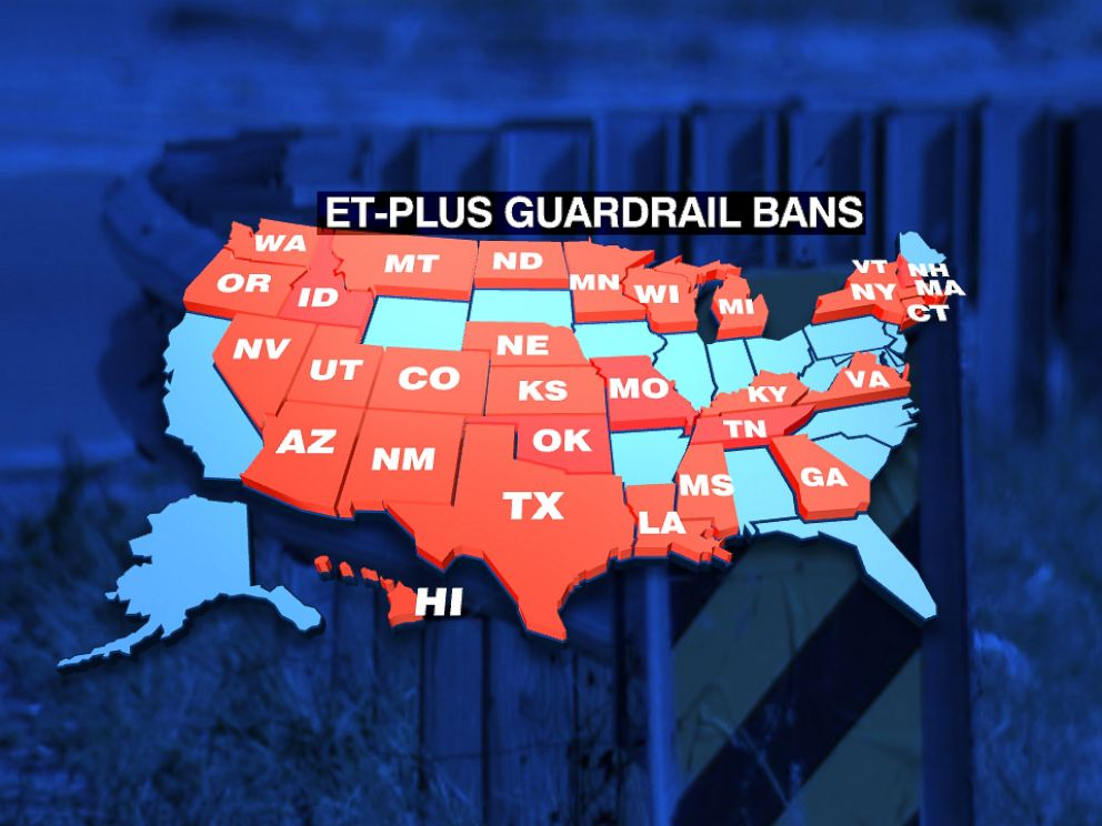 PHOTO: Thirty states have announced theyre halting the installation of ET-Plus guardrails.