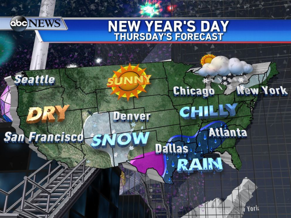 New Years Eve Forecast Brings The Big Chill To Nation