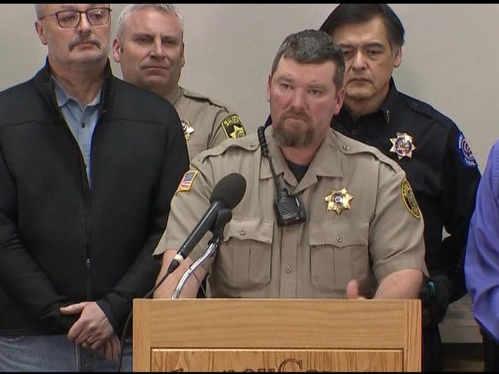 PHOTO: Harney County Sheriff David Ward spoke at a press conference Jan. 27, 2016 in Burns, Ore.