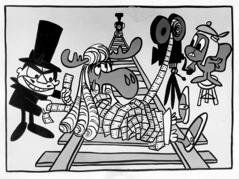 PHOTO: Boris Badenov, Bullwinkle J. Moose and Rocky Squirrel in Rocky and Bullwinkle.