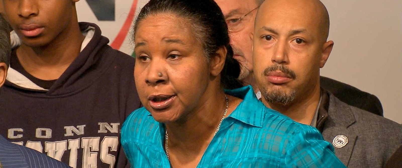 PHOTO: Eric Garners widow, Esaw Garner, speaks during a press conference, Dec. 3, 2014, in New York City in response to the grand jury decision not to indict the NYPD officer responsible for the choke hold death of Eric Garner back in July.