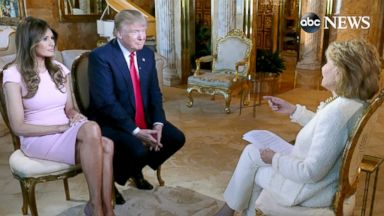 PHOTO: Donald and Melania Trump sat down with Barbara Walters for an interview to air on ABC News 20/20.