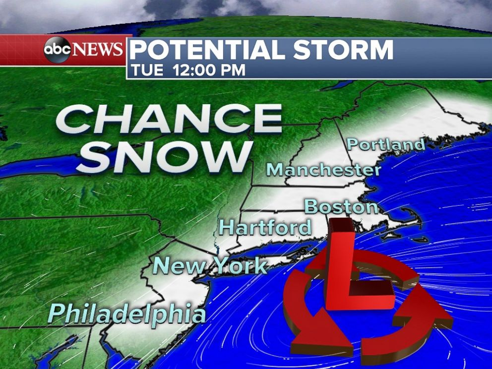 PHOTO: A new storm may affect the Northeast Coast by early next week.