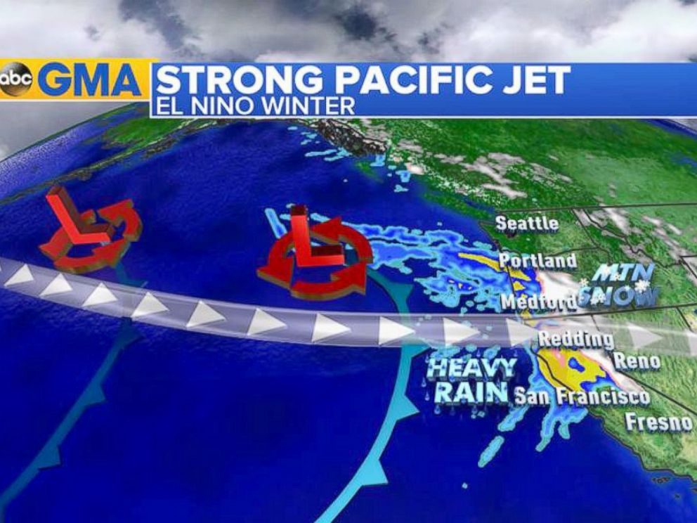 PHOTO: This year due to the unusually warm waters in the Gulf of Alaska, the jet stream has been pushing a lot of moisture into the Pacific Northwest.