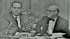 PHOTO: Abraham Zapruder live broadcast on ABC, Nov. 22, 1963.