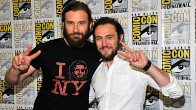 "PHOTO: Clive Standen and George Blagend attend ""Vikings"" panes at Comic-Con"