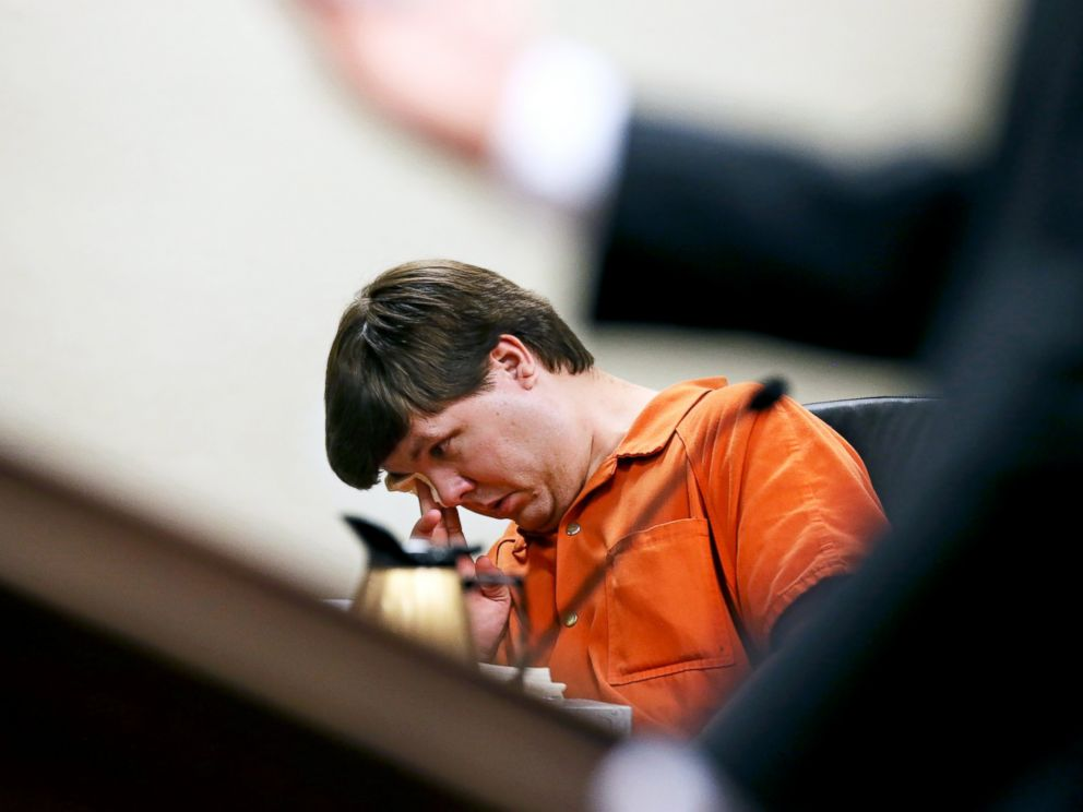 PHOTO: Justin Ross Harris, the father of a toddler who died after police say he was left in a hot car for about seven hours, wipes his eye as he sits during his bond hearing in Cobb County Magistrate Court, July 3, 2014, in Marietta, Ga.