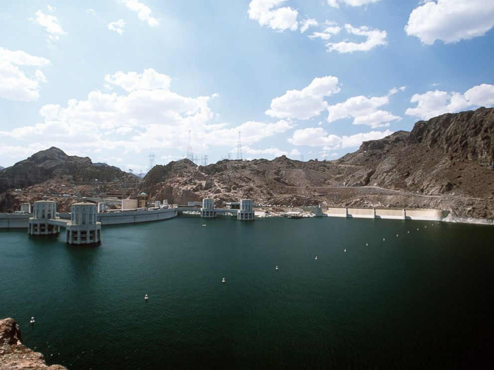 PHOTO: This image made in 2000 showing the waters of the enormous man-made Lake Mead where Hoover Dam operates in Black Canyon, Nevada.