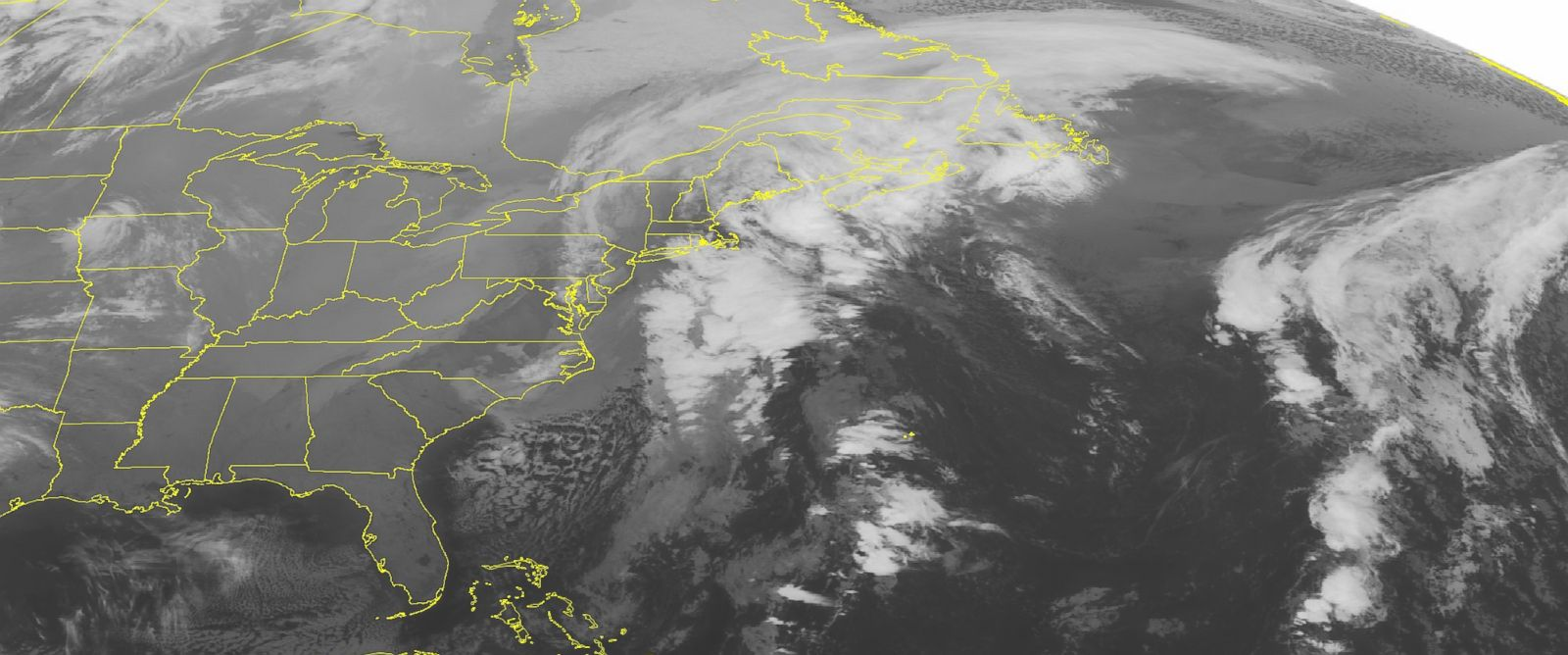 This NOAA satellite image taken Wednesday, Dec. 10, 2014 at 12:45 a.m. EST shows a noreaster moving up the eastern seaboard.