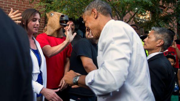 AP OBAMA3 140708 dg 16x9 608 Obama The Bear Lets Loose in Denver