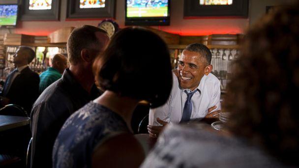 AP OBAMA4 140708 dg 16x9 608 Obama The Bear Lets Loose in Denver