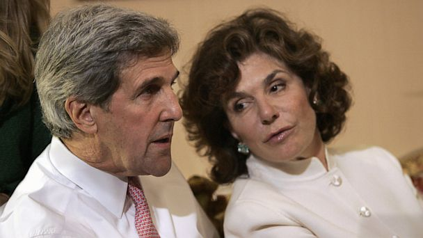 PHOTO: In a Tuesday, Nov. 4, 2008 file photo, Sen. John Kerry, D-Mass, left, talks with his wife Teresa Heinz Kerry while watching election results at a hotel in Boston, in Boston.