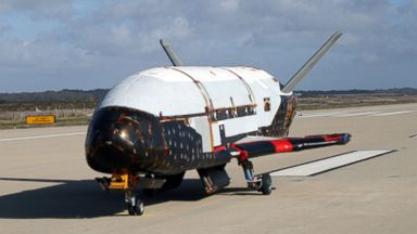 PHOTO: The X-37B spacecraft is shown in this undated file image provided by the U.S. Air Force.