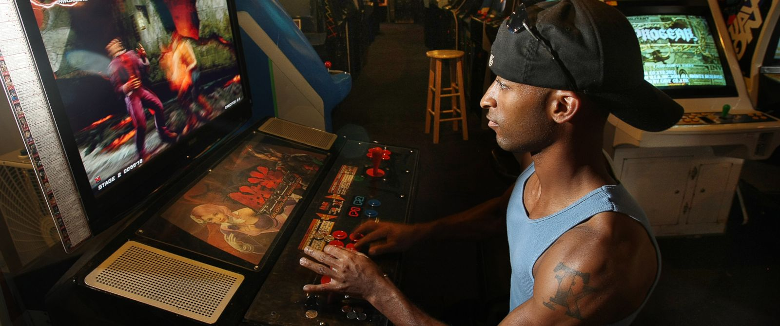 """PHOTO: In this Aug. 26, 2009 picture, Michael Robinson plays """"Tekken Six Bloodline Rebellion"""" a popular game at Game Galaxy in Hickory Hollow mall in Nashville, Tenn."""