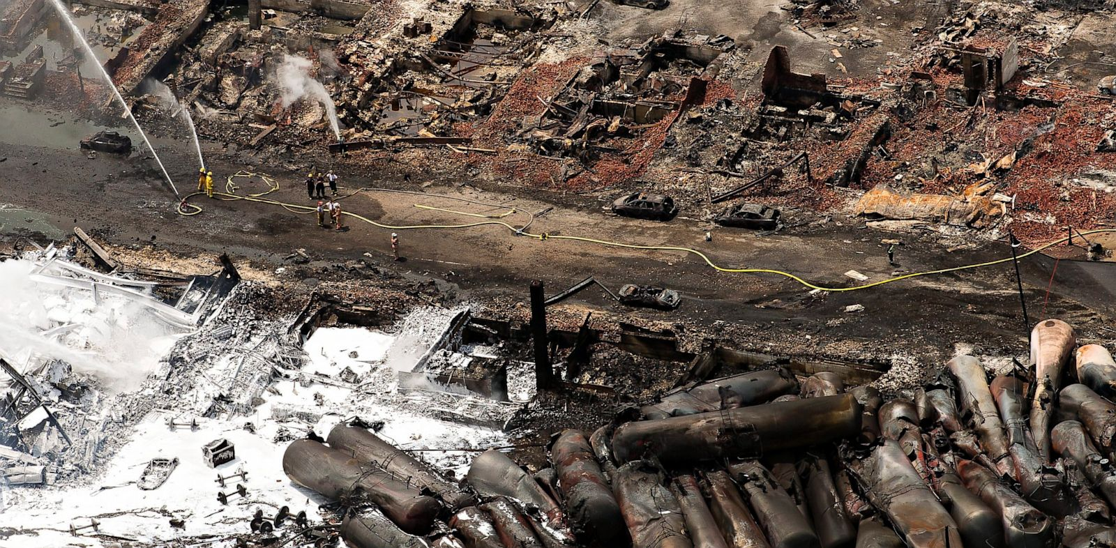 PHOTO: lac megentic, derailment, derailed, train, oil, canada