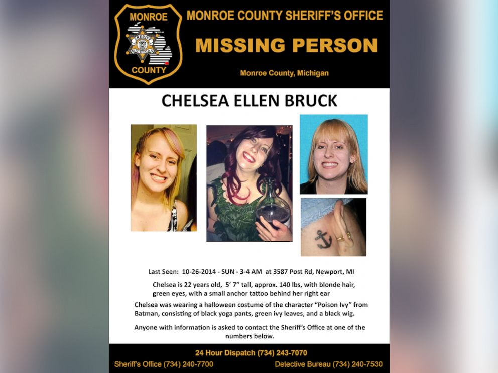 PHOTO: A search poster for Chelsea Bruck, provided by the Monroe County Sheriffs Office, is shown.
