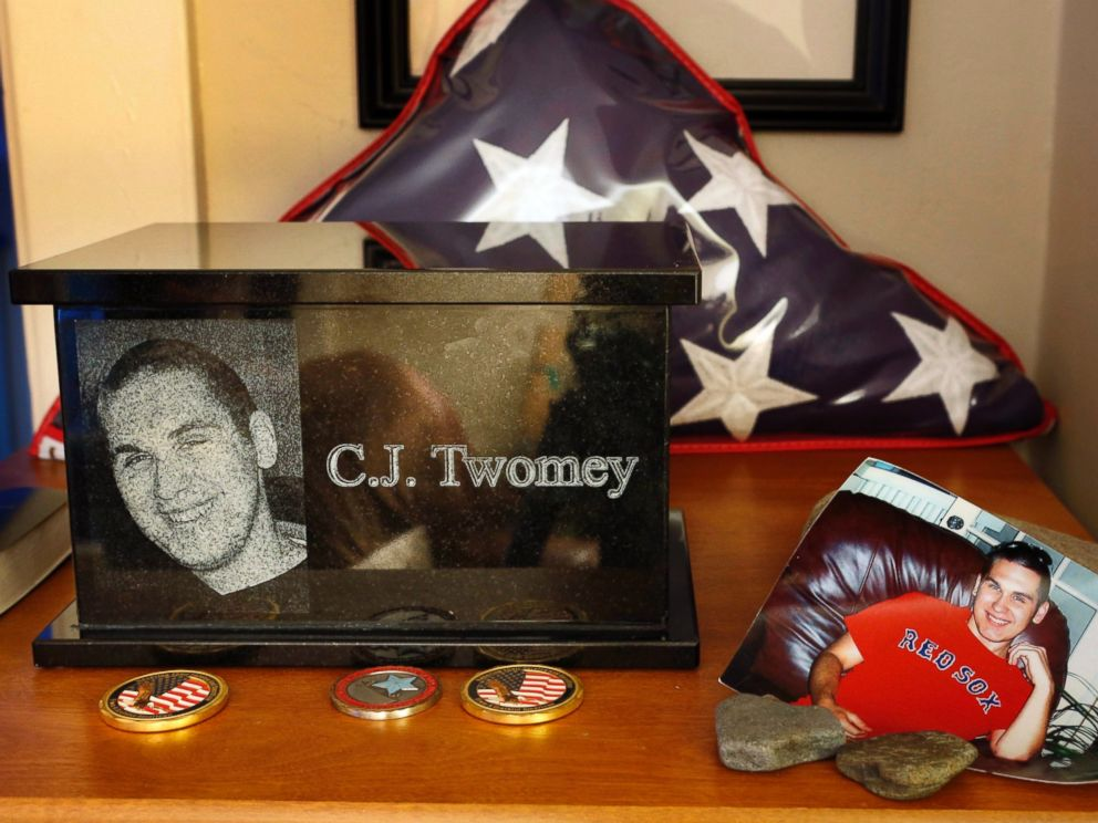 PHOTO: In this Dec. 17, 2013 file photo, an urn containing the ashes of C.J.