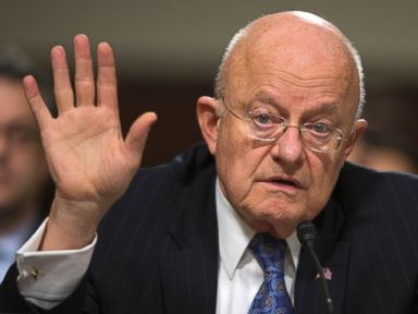 PHOTO: Director of National Intelligence James Clapper testifies on Capitol Hill in Washington on Feb. 9, 2016, before a Senate Armed Services Committee hearing on worldwide threats.