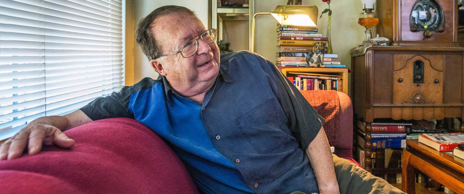 PHOTO: In this photo taken on Wednesday, July 9, 2014, Jim Gaylord sits in his Tacoma, Wash., living room, and talks about being fired in 1972 from his teaching job because he was gay.