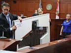 PHOTO: John Guy and Richard Mantei present Trayvon Martins hooded sweatshirt as evidence at Zimmerman trial