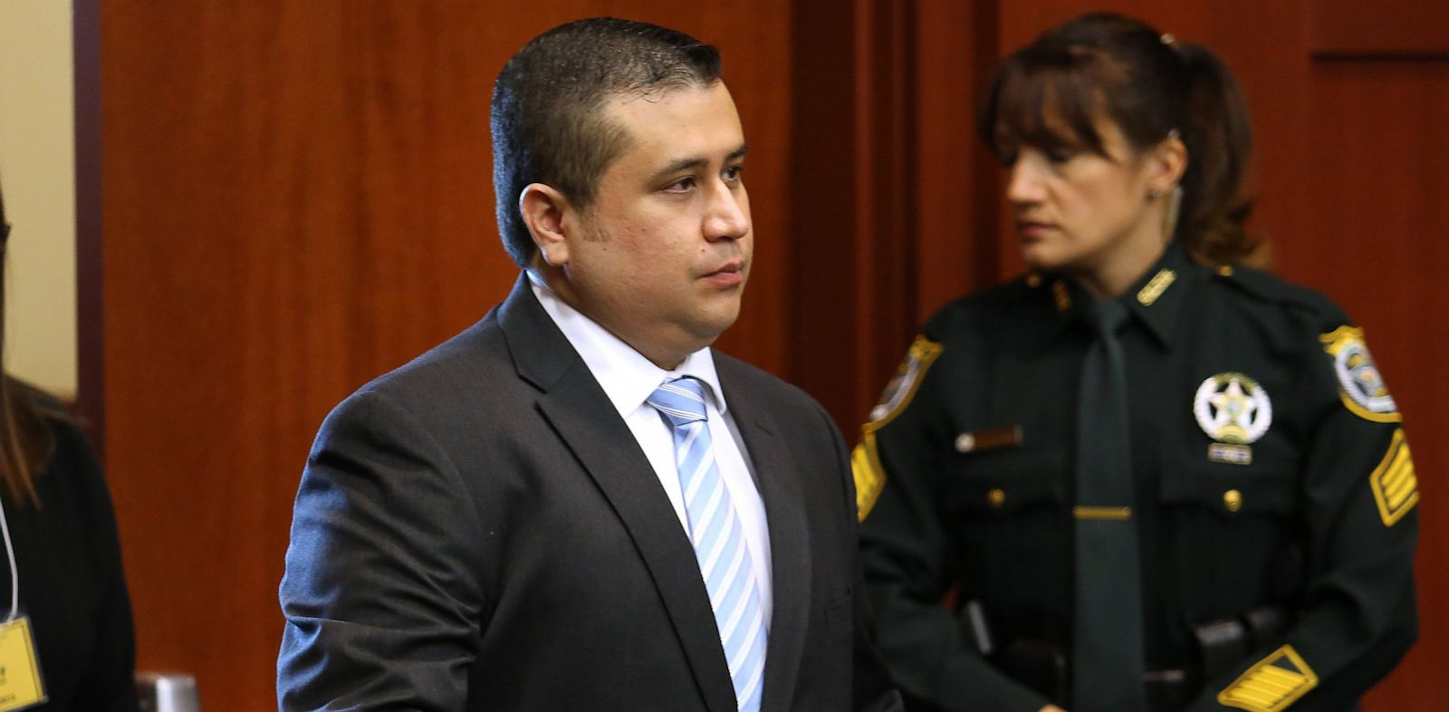 PHOTO: George Zimmerman arrives for the 16th day of his trial in Seminole circuit court, in Sanford, Fla., July 1, 2013.