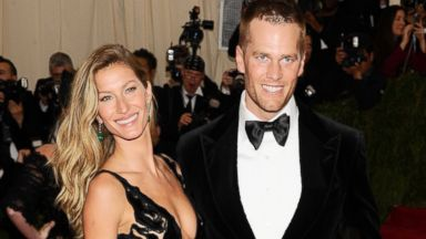 """PHOTO: Gisele Bundchen and Tom Brady attend The Metropolitan Museum of Arts Costume Institute benefit gala celebrating """"Charles James: Beyond Fashion, """" May 5, 2014, in New York."""