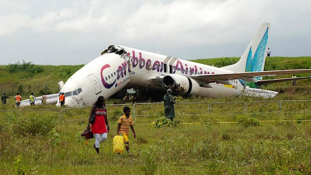 PHOTO: Caribbean Airlines Boeing 737-800 crashed at Guyana airport