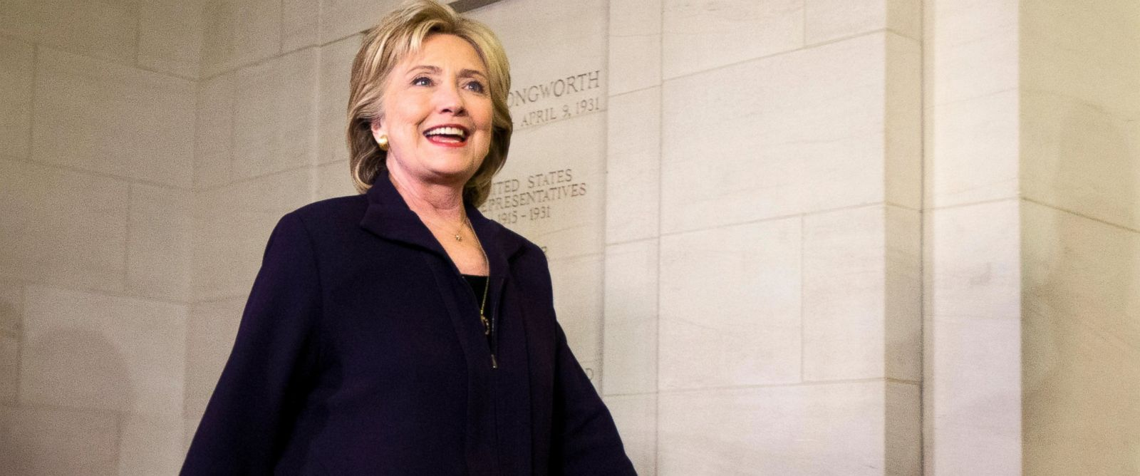 PHOTO:Democratic presidential candidate and former Secretary of State Hillary Clinton leaves the Longworth House office building at the conclusion of her testimony before the House Select Committee on Benghazi in Washington, Oct. 22, 2015.