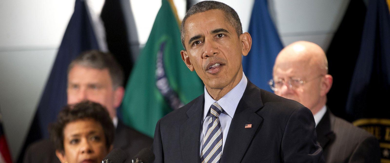 PHOTO: President Barack Obama speak at the National Counterterrorism Center in McLean, Va., Dec. 17, 2015.