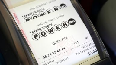 PHOTO: Powerball tickets print out in Indianapolis, Feb. 19, 2014.