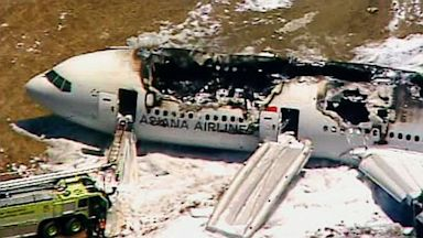 PHOTO: This frame grab from video provided by KTVU shows the scene after an Asiana Airlines flight crashed while landing at San Francisco Airport, July 6, 2013, in San Francisco.