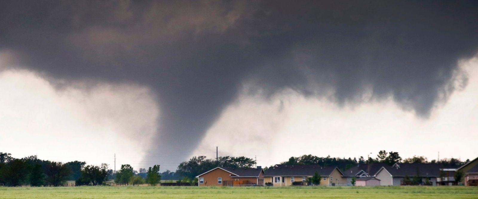 PHOTO: A tornado passes near Halstead, Kan., May 6, 2015.