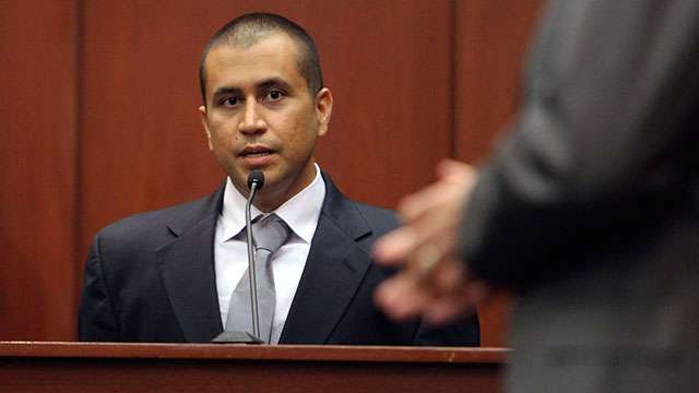 PHOTO:George Zimmerman, left, answers a question from attorney Mark O'Mara in the courtroom, April 20, 2012, during a bond hearing in Sanford, Fla.