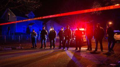 PHOTO: Police line up in front of a crime scene, Nov. 24, 2015, in Minneapolis.